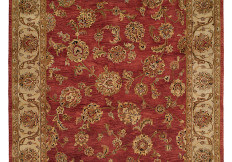 Red and beige oriental rug