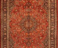 red patterned oriental rug