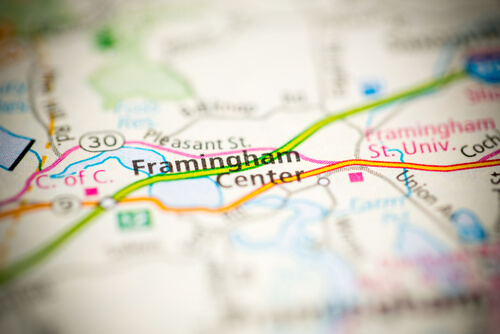 Framingham on Map