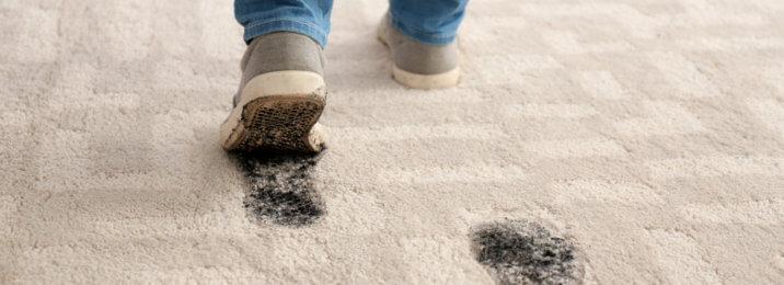 footprints on rug