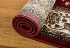 persian rug rolled up